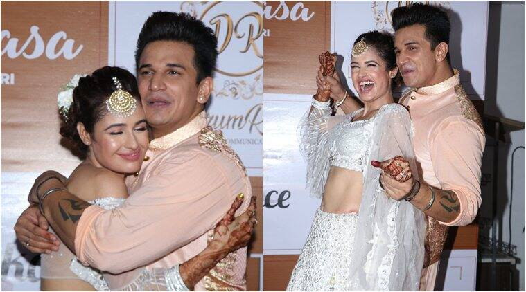 Prince Narula and Yuvika Choudhary sangeet photos