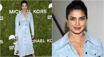 Priyanka Chopra's Michael Kors blue suede dress is pure love