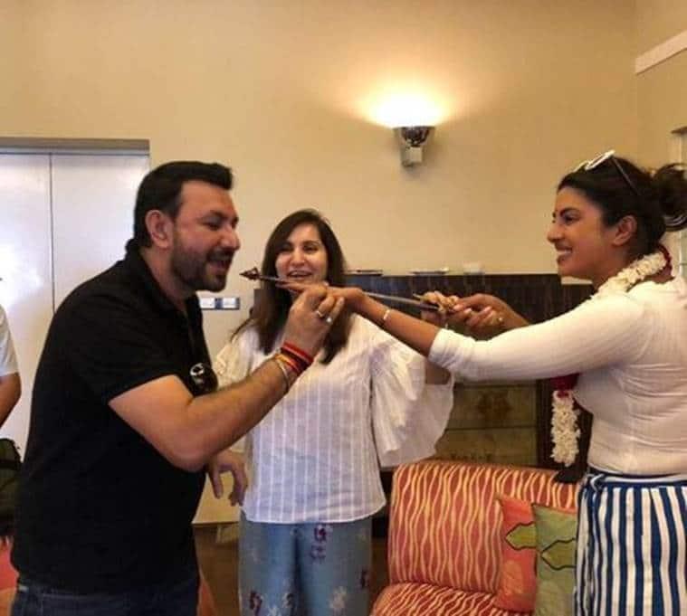 Priyanka Chopra Nick Jonas Jodhpur visit to celebrate Sudeep Dutt birthday photos