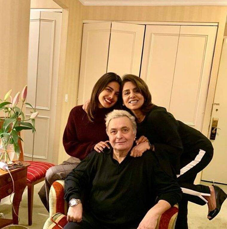 priyanka chopra with rishi and neetu kapoor