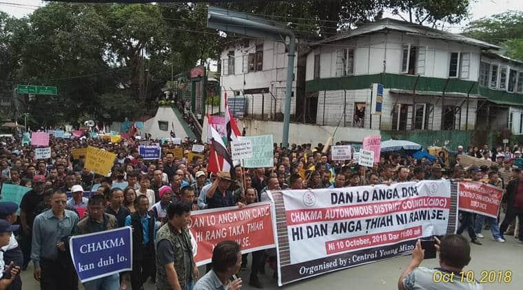 mizoram, mizoram immigrants, mizoram rally, mizoram chakma council, mizoram illegal immigrants, young mizo association, north east news, mizoram bangladeshi migrants, bangladeshi infiltrators