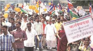 Pune: Protests against transfer of police inspector