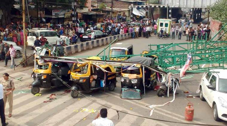 Pune: Four killed as hoarding on rail premises collapses on road