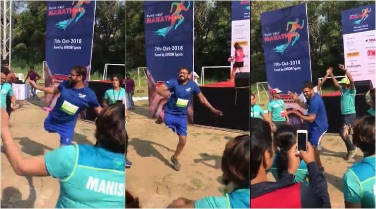 pune half marathon, pune half marathon disabled man dance, pune half marathon voral video, differently abled man dancing, inspiring videos, indian express