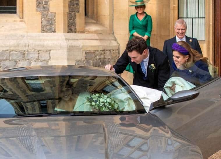 Queen Elizabeth II's granddaughter princess Eugenie weds at Windsor Castle
