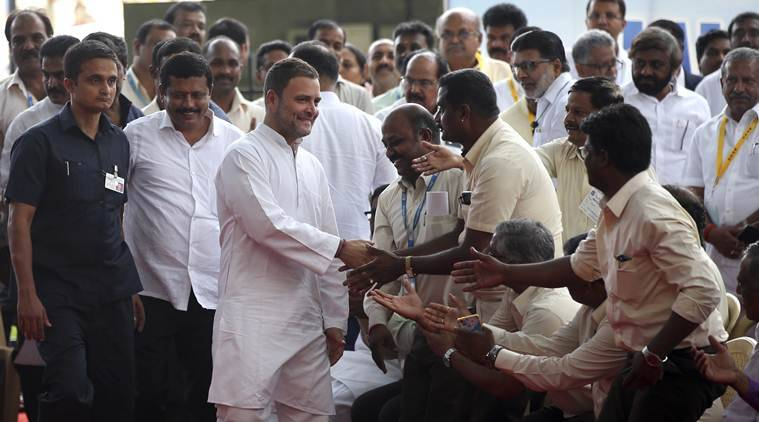 rahul gandhi, rahul gandhi rafale deal, rahul gandhi HAL workers, rahul meets hal staff, rahul hal employees, congress rafale, rafale jet deal, bjp rafale, indian express