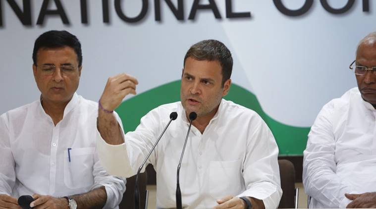 Congress chief Rahul Gandhi addressed the media on Thursday.