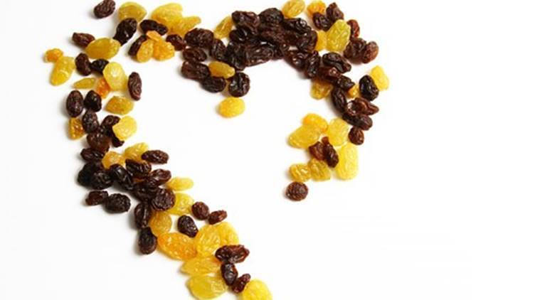 raisins, uses of raisins, raisins benefits, health benefits of raisins, uses of dry grapes, anemia treatment, treatment of blood pressure, indian express, indian express news