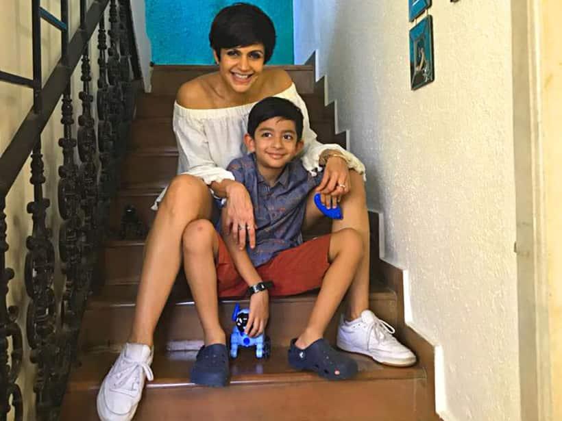 Mandira Bedi and son Vir