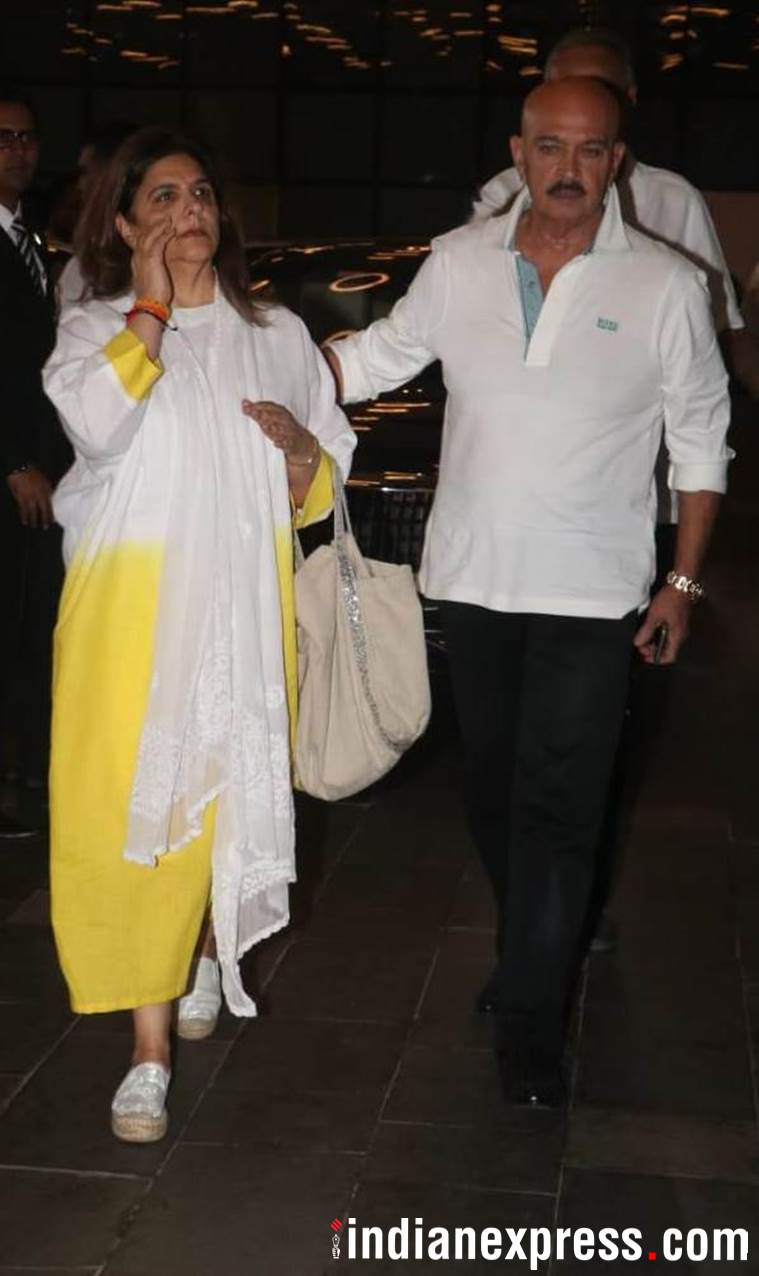 Rakesh Roshan and wife Pinky Roshan