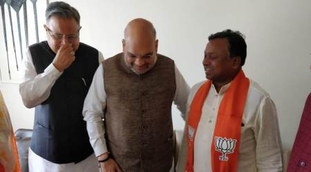 Setback for Congress as MLA Ram Dayal Uike, a top tribal leader, joins BJP