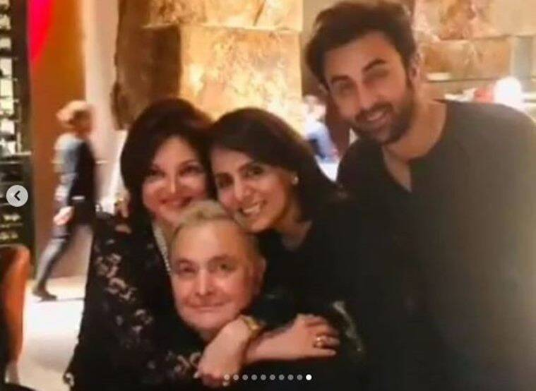 rishi kapoor and neetu kapoor with ranbir kapoor