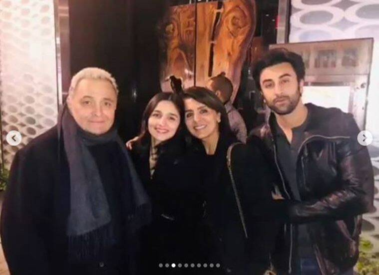 ranbir kapoor and alia bhatt with Rishi kapoor and neetu kapoor