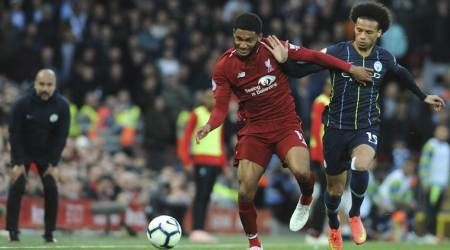 Riyad Mahrez misses late penalty in goalless draw at Liverpool
