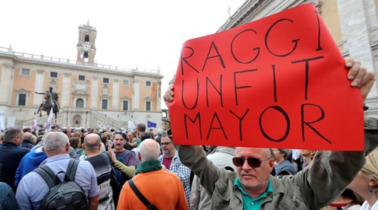 Thousands protest conditions and infrastructure in Rome
