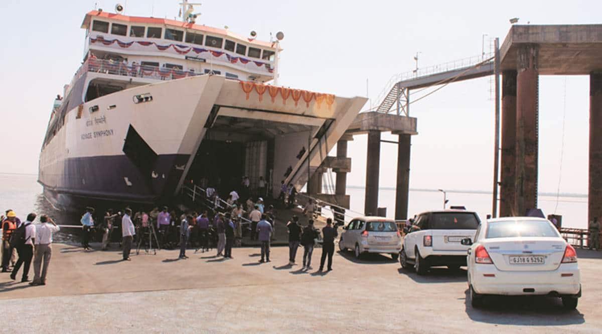 Indigo Seaways, ropax ferry surat, pm modi ropax ferry launch, gujarat news