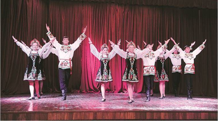 Dance, kalinka, moscow-based folk, Russia's village, Russian Centre For Science And Culture,  military-style Kozachok, Filmmaker Vishal Bhardwaj, 7 Khoon Maaf, Indian Express