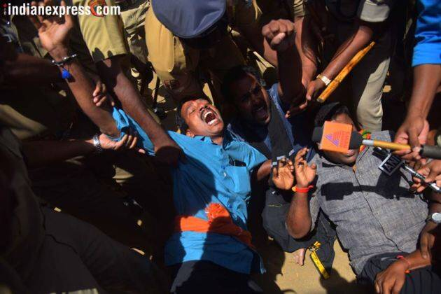 Sabarimala protests: Two women agree to return as protestors block entry