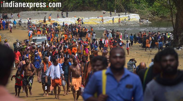 Kerela has been witnessing massive protests by Lord Ayyappa devotees opposing the apex court's verdict. (Express file photo)