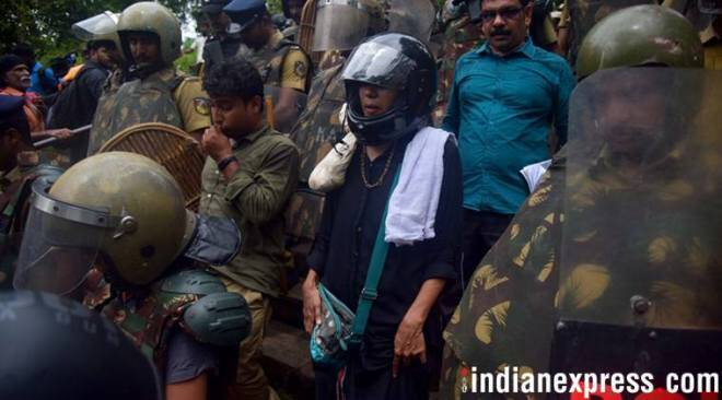 Sabarimala protests: These two women reached temple hilltop but returned amid protests