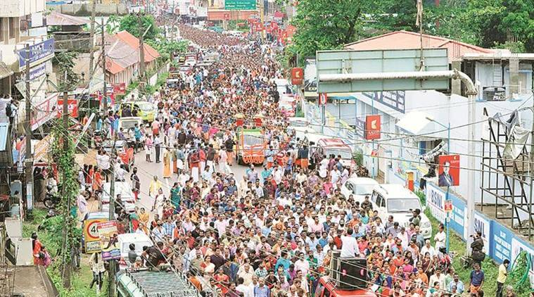 Women join protest march against Sabarimala verdict