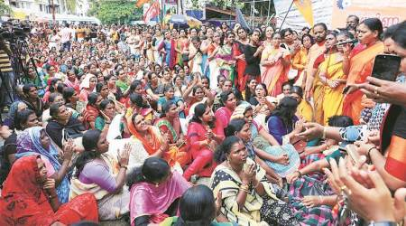Sabarimala verdict, Sabarimala judgment, SC verdict, Lord ayyappan temple, Sabarimala Ayappan temple, Kerala temple, Sabarimala protests, Indian express