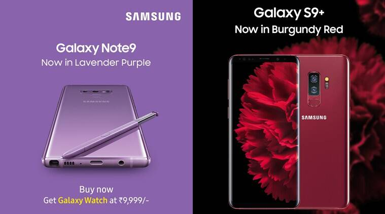 Samsung Galaxy Note 9, Galaxy S9 Plus, Galaxy Note 9 Lavender Purple price in India, Galaxy S9 Plus Burgundy Red specifications, Galaxy Note 9 vs Galaxy S9 Plus, Samsung Galaxy Note 9 Lavender Purple features, Galaxy S9 Plus Burgundy Red India sale