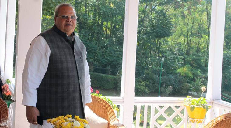 """It is possible that we have not kept the promises made at that time but I guarantee that on 370 and 35A, and I have faith in the Indian judiciary, there is nothing to worry about,"" the J&K governor said. (Express photo/Shuaib Masoodi)"