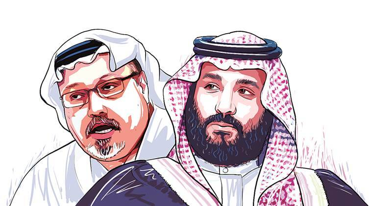 Image result for caricature khashoggi and the Saudis