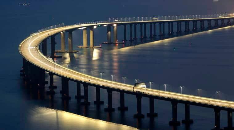 Photos of world's longest sea bridge connecting Hong Kong to Macau and Zhuhai