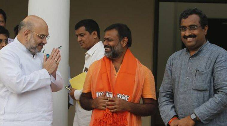Hindu Vahini founder joins BJP, Shah sees brighter poll prospects