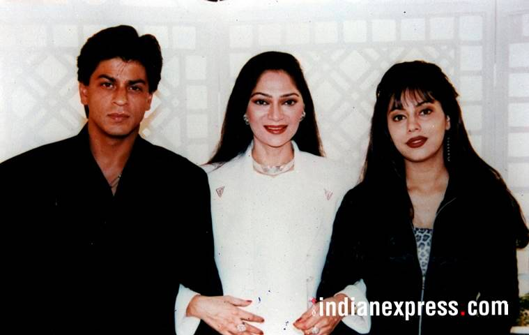 shahrukh and gauri simi garewal photos