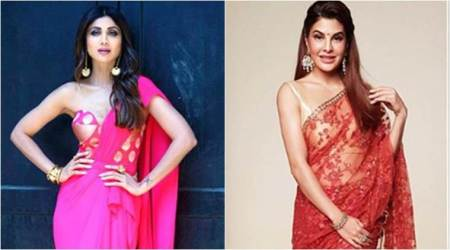 Shilpa Shetty or Jacqueline Fernandez: Who styled the sari better?