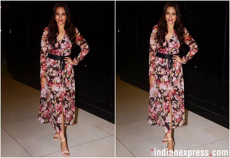Sonakshi Sinha, Loveyatri, Loveyatri screening, Sonakshi Sinha latest photos, Sonakshi Sinha fashion, Sonakshi Sinha updates, Sonakshi Sinha latest news, Sonakshi Sinha latest pics, celeb fashion, bollywood fashion, indian express, indian express news