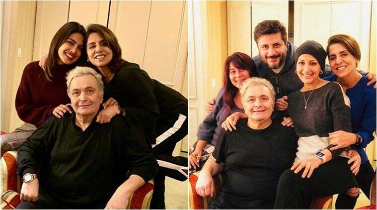 Rishi kapoor meets priyanka chopra, sonali bendre in new york