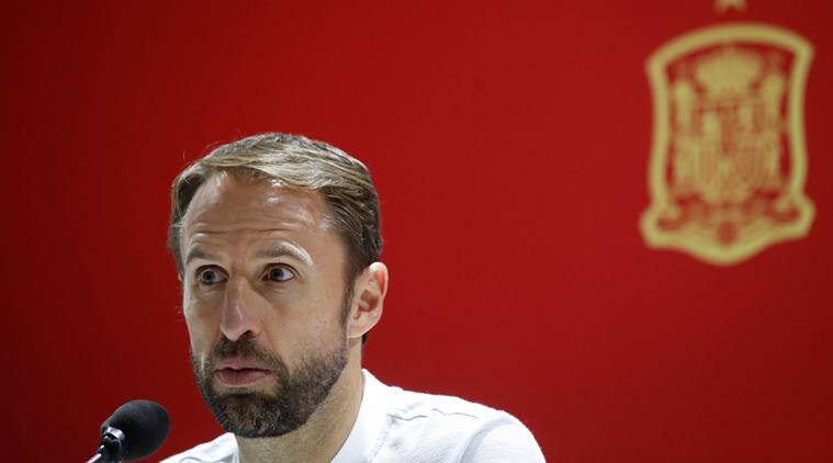 England manager Gareth Southgate during the press conference prior to facing Spain