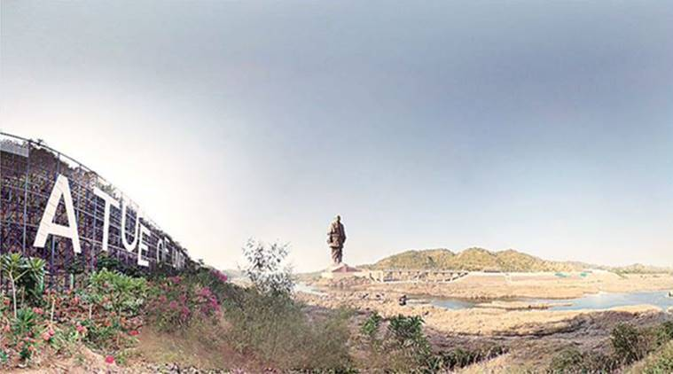 Statute of unity, Statue of sardar patel, World's tallest statue, PM to unveil statue, PM Narendra Modi, protest against statue of unity, BTS, Bharatiya Tribal Party, Sardar Sarovar Dam, Indian Express