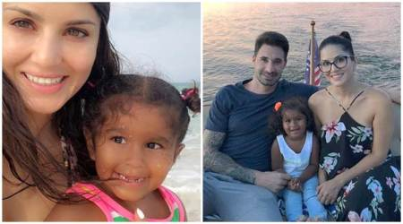 Sunny Leone daughter Nisha Kaur 3rd birthday Mexico family picture