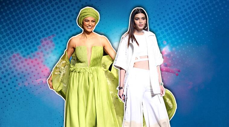 Lotus Make-Up India Fashion Week, Sushmita Sen, Diana Penty, LMIFW 2018, LMIFW Spring/Summer 2019 collection, Vidhi Wadhwani, Bhumika and Jyoti, indian express, indian express news