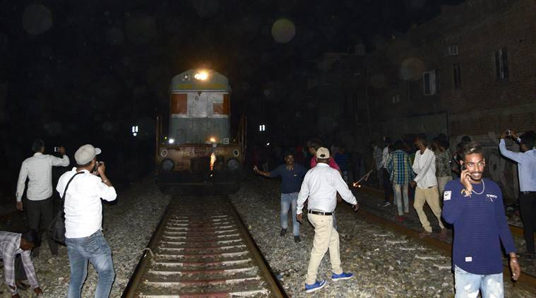 amritsar train accident, train tragedy, dussehra event, dussehra celebration, amritsar tragedy, ravana effigy burning, people killed in train accident, indian express
