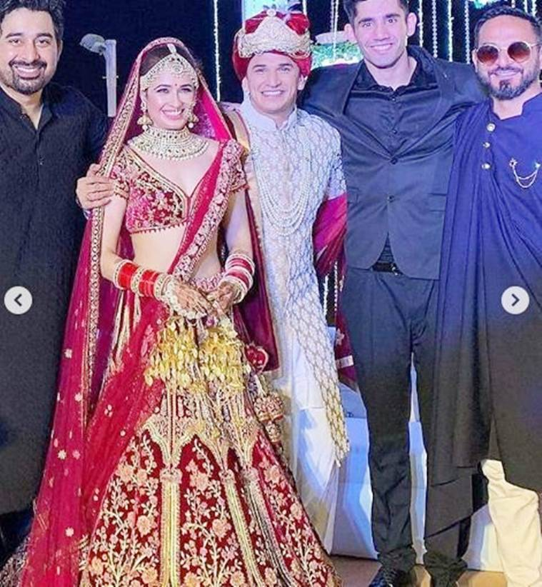 rannvijay and nikhil chinappa at prince yuvika wedding