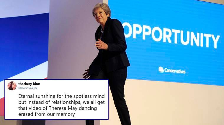 British PM Theresa May kicks off keynote speech with ABBA's 'Dancing Queen'