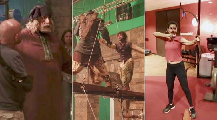 thugs of hindostan making video action
