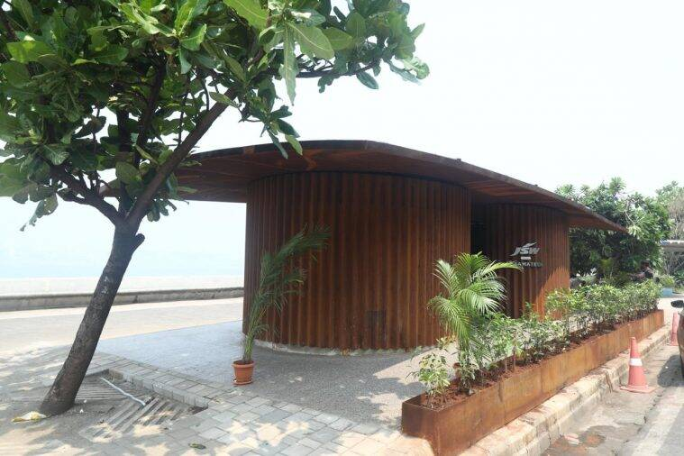 Toilet complex on Marine Drive in Mumbai