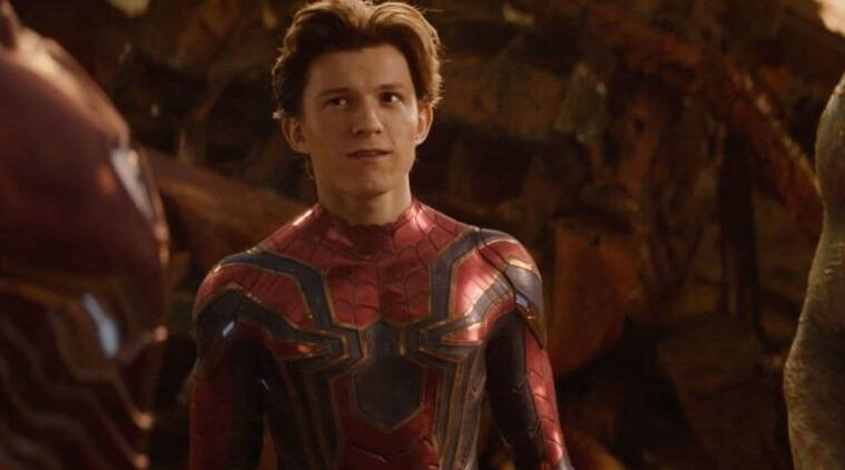 Tom Holland as Peter Parker/Spider-Man in Avengers: Infinity War.