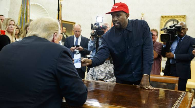 kanye west, kanye west trump, kanye west speech, american rapper trump, us rapper speech, kanye west defends trump, indian express, world news, us news