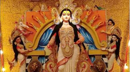 4,000 kgs of turmeric used to create Durga Puja pandal in Kolkata