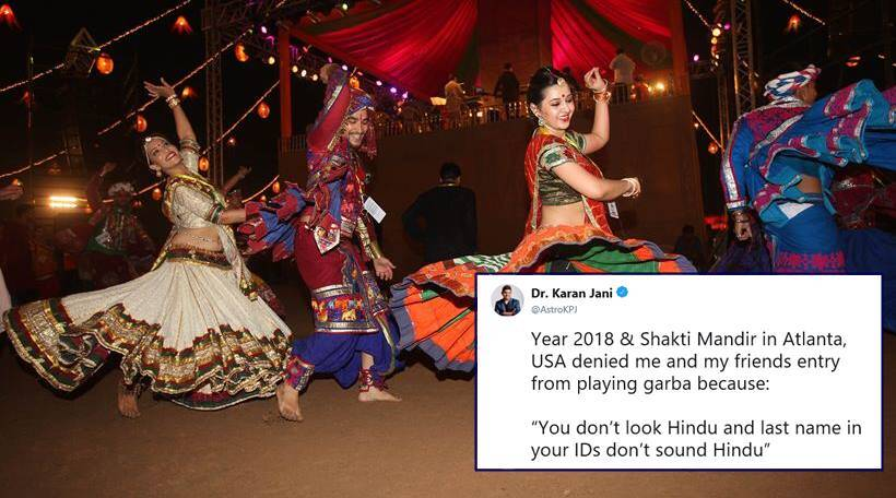 navratri, garba, atlanta garba event denied man, religious discrimation garba event, karan jani denied garba event entry, temple deny entry garba event, viral news, indian express