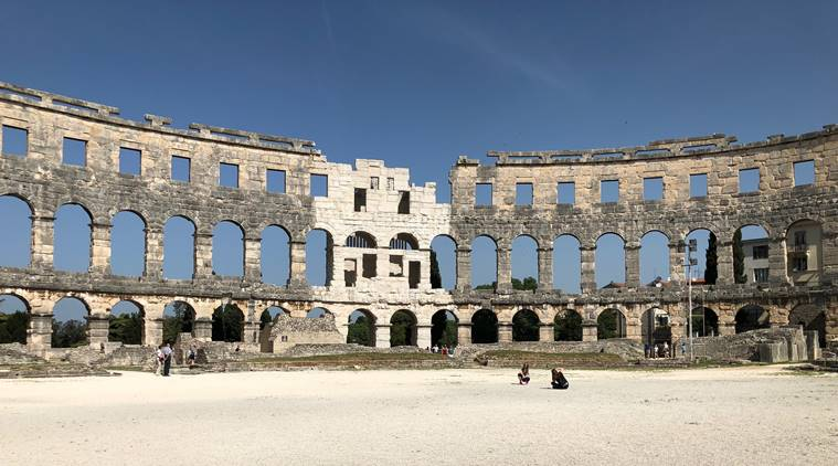 Pula Arena, istria, rome, travel pieces, travellogue, travel, where to go, places to visit, Augustan, pula, old town of pula, indian express, indian express news