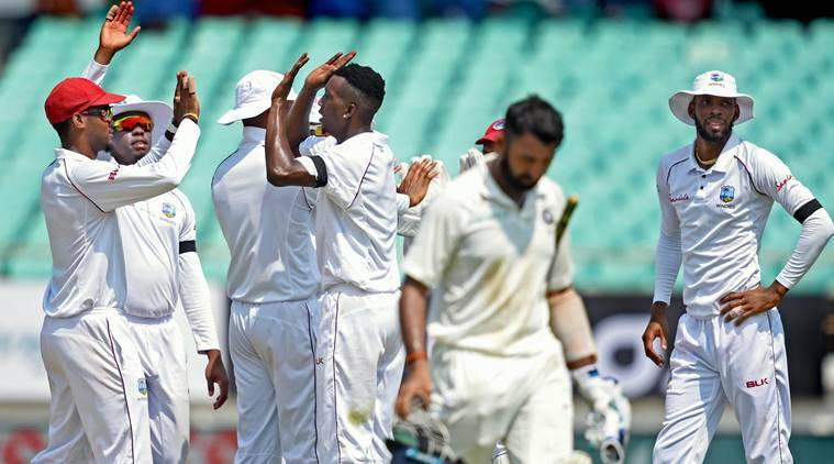 West Indies 94/6 at end of 2nd day's play of Rajkot Test